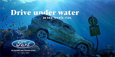 DRIVE UNDER WATER as sea levels rise